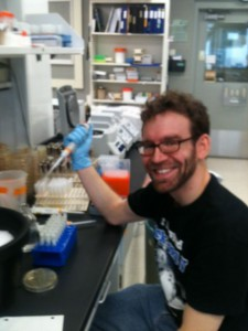 Photo of Eric Bruger in the lab