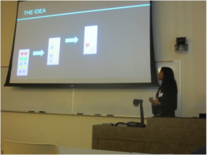 Shruti Singh presenting this project at a Rice University undergraduate conference.