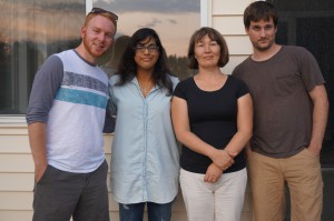 From left to right: Jakob Nalley, Farhana Haque, Dr. Elena Litchman, Danny O'Donnell