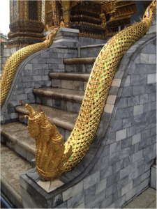 Figure 1. Golden Naga in Emerald Buddha temple Wat Pra Kaeo, Bangkok, Thailand