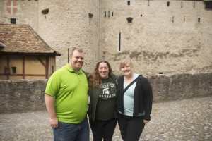 Kristin Parent (center), Natalia Porcek and Jason Schrad at the PVA meeting in Switzerland.