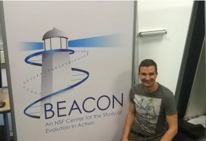 René after a BEACON seminar