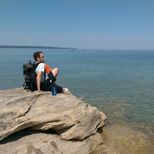 I visited the Pictured Rocks National Lakeshore over this past summer. Here I am sitting near Miners Castle looking toward Lake Superior.