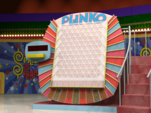 The Plinko board, in all its glory.